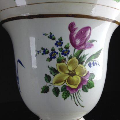 Pair of French creamware vases, c. 1800-4255