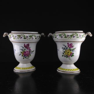 Pair of French creamware vases, c. 1800-0