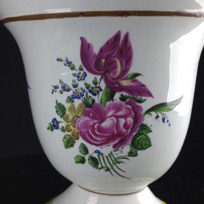 Pair of French creamware vases, c. 1800-4258