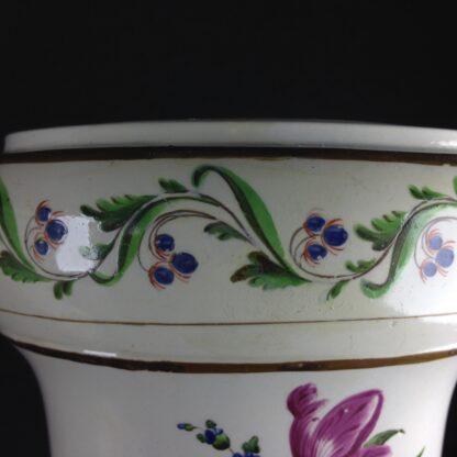 Pair of French creamware vases, c. 1800-4262