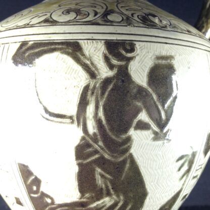 Martin Brothers 'Greek' vase, C. 1885. -4326