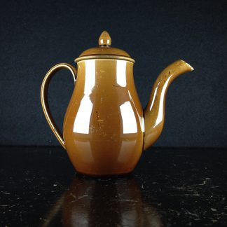 'Rockingham' pottery miniature coffee pot, Spode? c. 1840-0