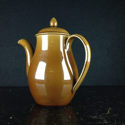 'Rockingham' pottery miniature coffee pot, Spode? c. 1840-4333