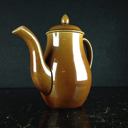 'Rockingham' pottery miniature coffee pot, Spode? c. 1840-4334