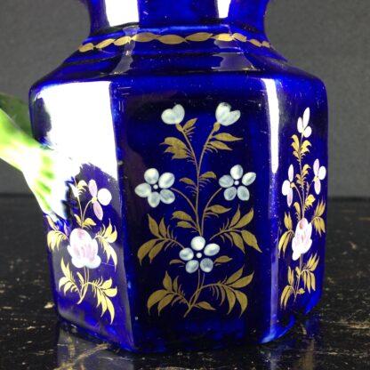 Masons Ironstone jug, blue ground with hydra handle, c. 1820. -4357