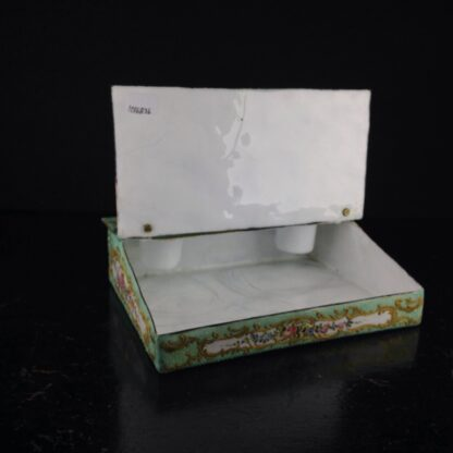 English enamel writing slope writing box, circa 1780 -4362