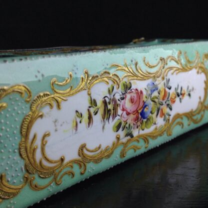 English enamel writing slope writing box, circa 1780 -4368