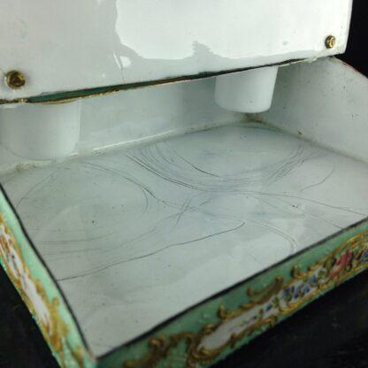 English enamel writing slope writing box, circa 1780 -4371