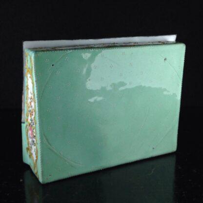 English enamel writing slope writing box, circa 1780 -4377