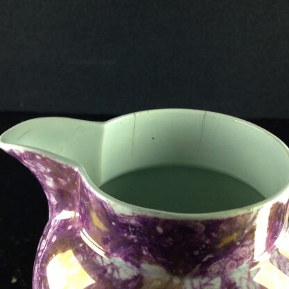Wedgwood purple lustre jug, Pearlware body, c.1810. -4381