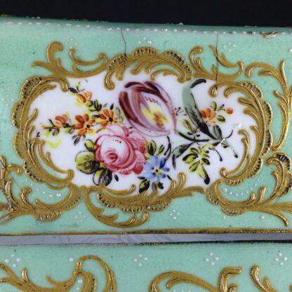 English enamel writing slope writing box, circa 1780 -4382