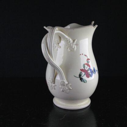 English Creamware jug with rose pattern, c.1780 -4533