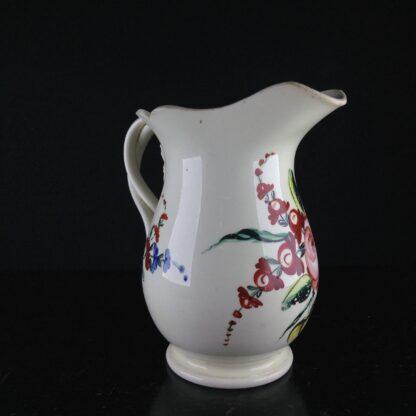 English Creamware jug with rose pattern, c.1780 -4535