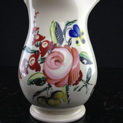 English Creamware jug with rose pattern, c.1780 -4536
