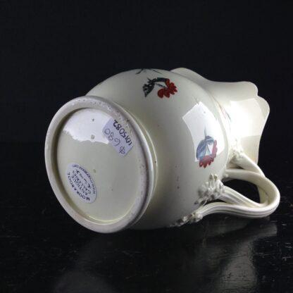 English Creamware jug with rose pattern, c.1780 -4538