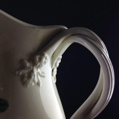 English Creamware jug with rose pattern, c.1780 -4541
