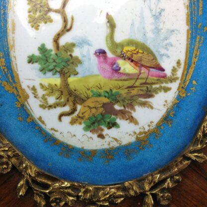 Sevres style pair of plaques, in ormolu frames on king wood, 19th century-4587