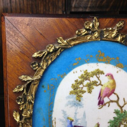 Sevres style pair of plaques, in ormolu frames on king wood, 19th century-4591