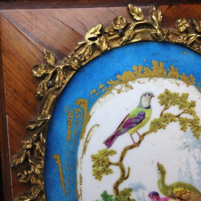 Sevres style pair of plaques, in ormolu frames on king wood, 19th century-4592