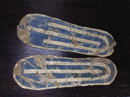 Pair of Egyptian Carthage sandals, late period, 700-300 BC. -0