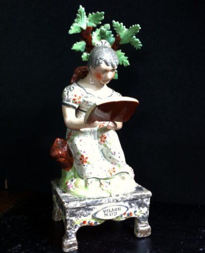 Staffordshire figure 'The Village Maid', C. 1830 -0