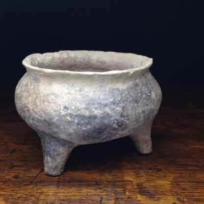 Early Chinese pottery 'Ding' vessel, 722 - 481 BC. -4684