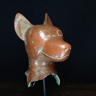 Colima (Mexico) large fragment of a dog vessel, 5th-6th century AD -0