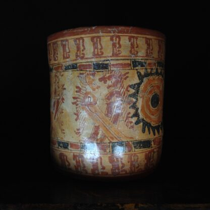 Mayan cylinder beaker, Hero Twins, c.800AD -4769