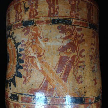 Mayan cylinder beaker, Hero Twins, c.800AD -4771