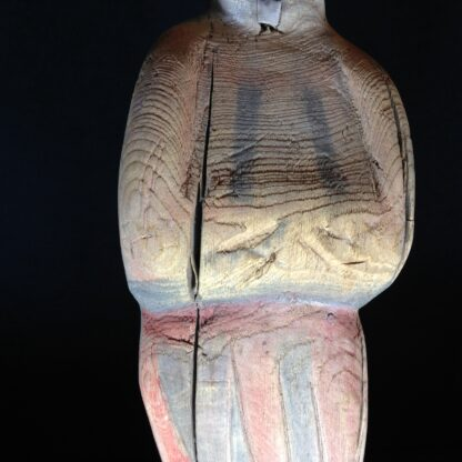 Tang dynasty figure of a lady, wood with pigments, 8th century AD -4787