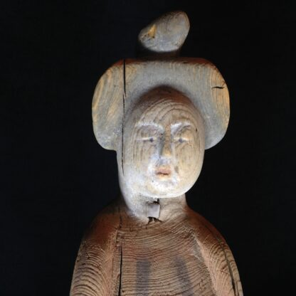 Tang dynasty figure of a lady, wood with pigments, 8th century AD -4788