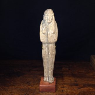 Wood shabti figure, late period, 664-342 BC -0