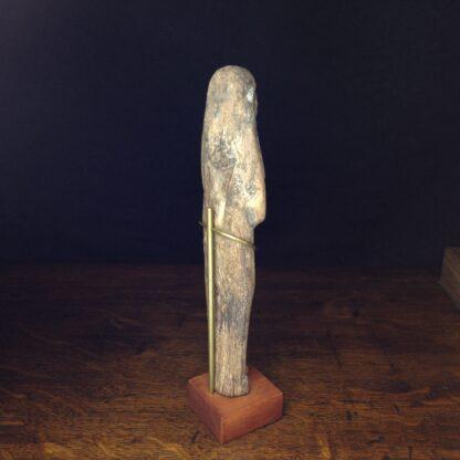 Wood shabti figure, late period, 664-342 BC -4879