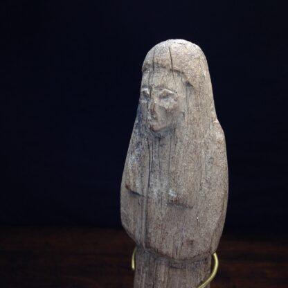 Wood shabti figure, late period, 664-342 BC -4882