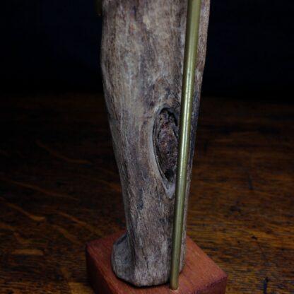 Wood shabti figure, late period, 664-342 BC -4886