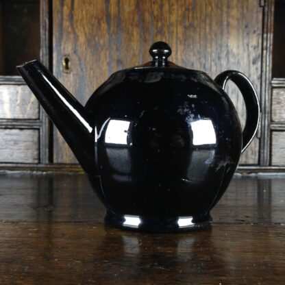 Jackfield type teapot, ghost of flowers, C. 1760-4957
