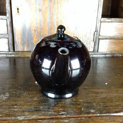 Jackfield type teapot, ghost of flowers, C. 1760-4960