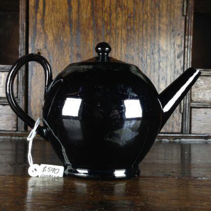 Jackfield type teapot, ghost of flowers, C. 1760-4963