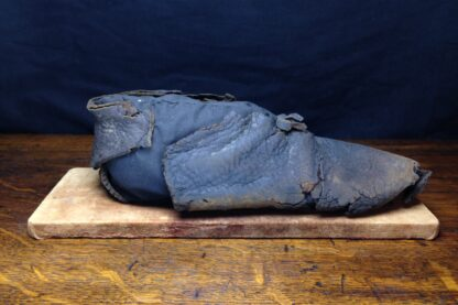 15th century Shoe, medieval leather with pointed toe, ex-Thames River, London -5488