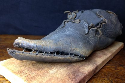 15th century Shoe, medieval leather with pointed toe, ex-Thames River, London -0