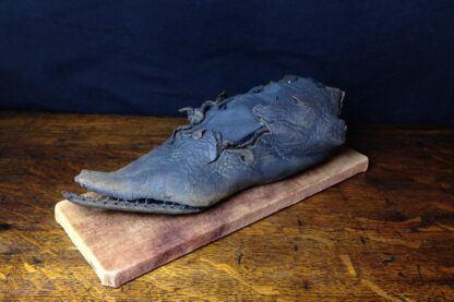 15th century Shoe, medieval leather with pointed toe, ex-Thames River, London -5491