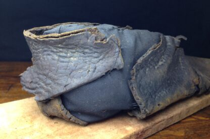 15th century Shoe, medieval leather with pointed toe, ex-Thames River, London -5494