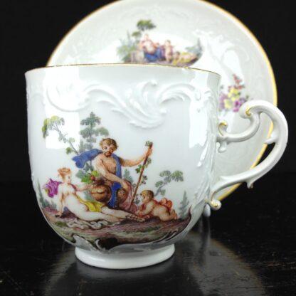 Meissen cup & saucer, Bacchus scenes, C. 1745 -5942