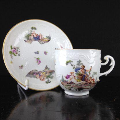Meissen cup & saucer, Bacchus scenes, C. 1745 -0