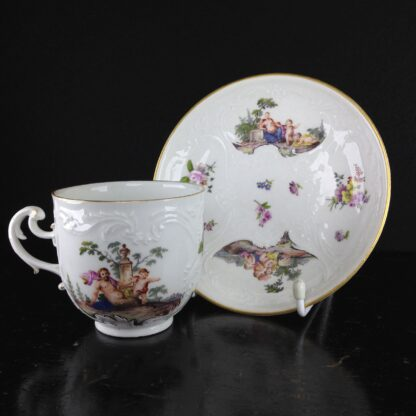 Meissen cup & saucer, Bacchus scenes, C. 1745 -5945