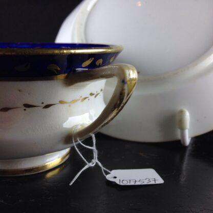 Coalport cup & saucer, Etruscan shape, c.1820. -6246