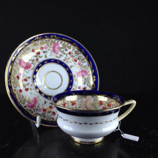 Coalport cup & saucer, Etruscan shape, c.1820. -0