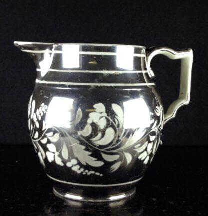 English silver lustre jug, scrolling foliage, c.1815-6271