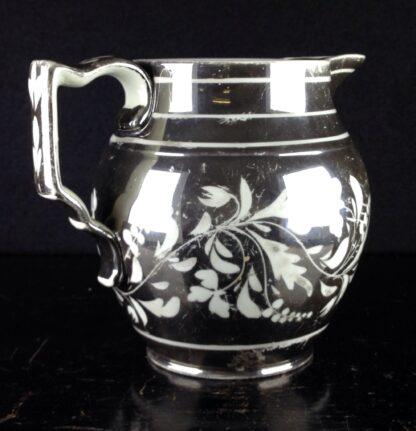 English silver lustre jug, scrolling foliage, c.1815-6272