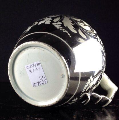 English silver lustre jug, scrolling foliage, c.1815-6274